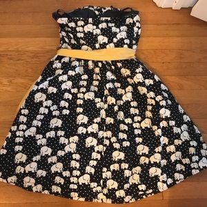 Anthropologie Dresses - Anthropologie Porridge elephant strapless dress